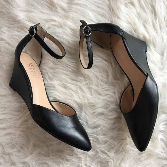 d233fa62bdca Franco Sarto Shoes - Franco Sarto wedge pump w  ankle strap